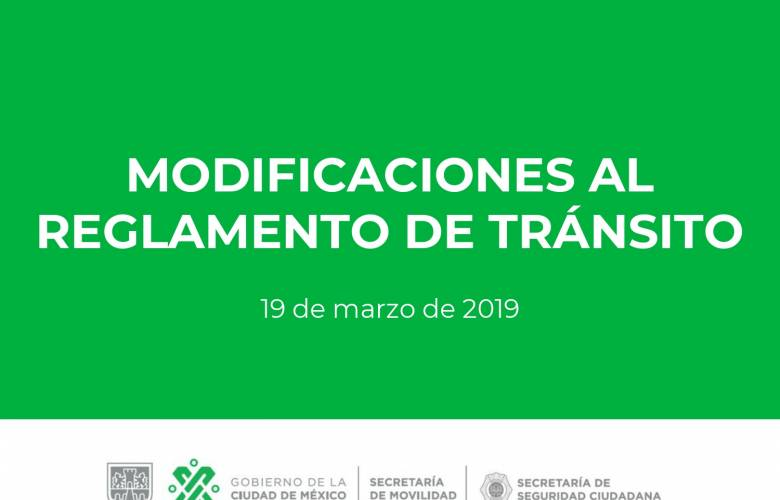 Nuevo Reglamento de Tránsito de la Ciudad de México